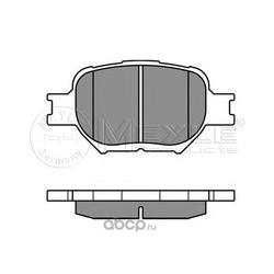 Комплект тормозных колодок, дисковый тормоз (Meyle) 0252352617