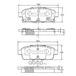 Комплект тормозных колодок, дисковый тормоз (Nipparts) N3610906