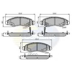 Комплект тормозных колодок, дисковый тормоз (Comline) CBP31297