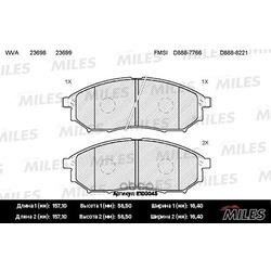 Колодки тормозные RENAULT KOLEOS / NISSAN MURANO/PATHFINDER/QASHQAI передние (Miles) E100045
