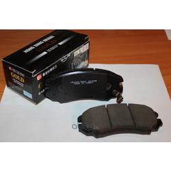 Колодки тормозные дисковые передние к-т (HSB) HP0009
