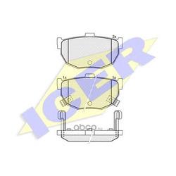 Комплект тормозных колодок, дисковый тормоз (Icer) 181144
