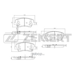 Колодки торм.диск. Hyundai Avante (MD) 11- FR (Zekkert) BS2817