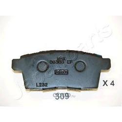 Колодки тормозные дисковые задние, комплект (Japanparts) PP309AF
