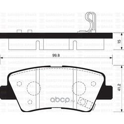 КОЛОДКИ ТОРМОЗНЫЕ ЗАДНИЕ (Sangsin brake) SP1239