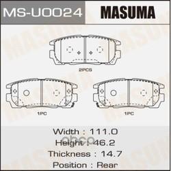 Колодки тормозные (Masuma) MSU0024