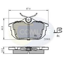 Комплект тормозных колодок, дисковый тормоз (Comline) CBP3945