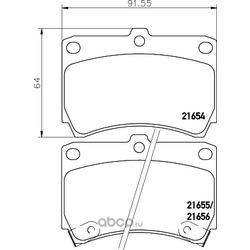 Комплект тормозных колодок, дисковый тормоз (Hella) 8DB355016431
