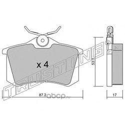 Комплект тормозных колодок, дисковый тормоз (Trusting) 1021