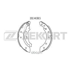 Колодки торм. бараб. зад Citroen Xsara 97- Peugeot 206 02- Renault Clio II 98- Logan (LS) 04- Tw (Zekkert) BK4058