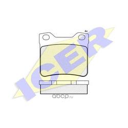 Комплект тормозных колодок, дисковый тормоз (Icer) 181109