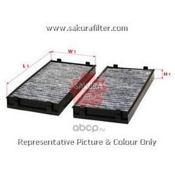 Фильтр салона угольный комплект (Sakura) CAC30040