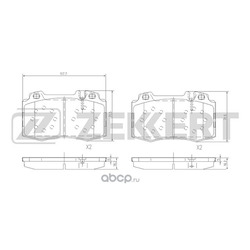 Колодки торм. диск. перед MB CL-Class (215) 99- ML-Class (163) 98- S-Class (220) 98- (Zekkert) BS1121