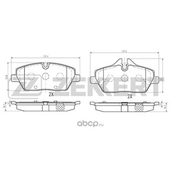 Колодки торм. диск. перед. BMW 1 (E81 E82 E88) 04- 3 (E90) 05- Mini II 06- Clubman 07- (Zekkert) BS1019