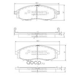 Комплект тормозных колодок, дисковый тормоз (Nipparts) J3601088