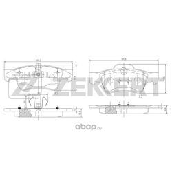 Колодки тормозные дисковые зад. MB CL (216) 06- CLS (219) 04- GL (164) 06- GLK ( (Zekkert) BS1145