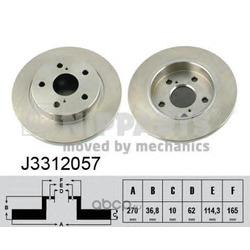 Тормозной диск (Nipparts) J3312057