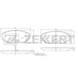 Колодки торм. диск. перед Nissan Maxima (A33) 00- (Zekkert) BS1220