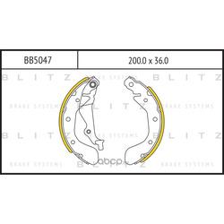 Колодки торм. барабанные (Blitz) BB5047