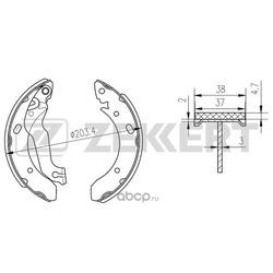 Комплект тормозных колодок (Zekkert) BK4220
