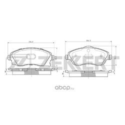 Колодки торм. диск. перед Opel Corsa C 00- Tigra B 04- (Zekkert) BS1234