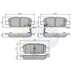 Комплект тормозных колодок, дисковый тормоз (Comline) CBP3912