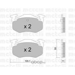 Комплект тормозных колодок, дисковый тормоз (Metelli) 2200380