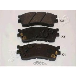 Комплект тормозных колодок, дисковый тормоз (Japanparts) PAK17AF