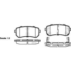 Комплект тормозных колодок, дисковый тормоз (Remsa) 120902