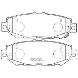 Колодки тормозные дисковые (FIT) FP0572