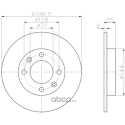 Тормозной диск (Hella) 8DD355108391