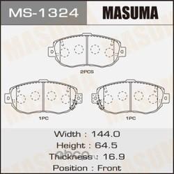 Колодки тормозные (Masuma) MS1324