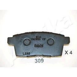 Колодки тормозные дисковые задние, комплект (Ashika) 5103309