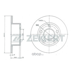 ДИСК ТОРМОЗНОЙ ЗАДНИЙ: A100/A6 90- зад Б-5 (Zekkert) BS5080