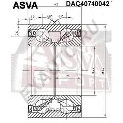ПОДШИПНИК СТУПИЧНЫЙ (40x74x42x42) (ASVA) DAC40740042