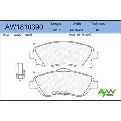 Колодки тормозные передние (AYWIparts) AW1810390