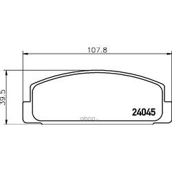 Комплект тормозных колодок, дисковый тормоз (Hella) 8DB355028201