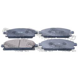 Колодки тормозные дисковые, комплект (Febest) 0201T30F