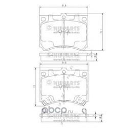 Комплект тормозных колодок, дисковый тормоз (Nipparts) J3603035