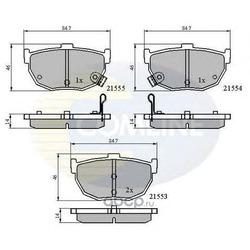Комплект тормозных колодок, дисковый тормоз (Comline) CBP3805