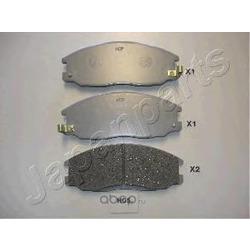 Комплект тормозных колодок, дисковый тормоз (Japanparts) PAH05AF