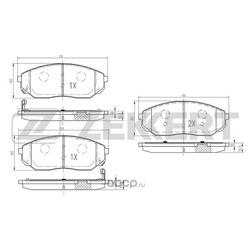 Тормозные колодки (Sangsin brake) HP1153
