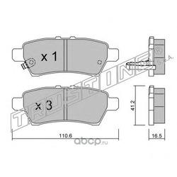 Комплект тормозных колодок, дисковый тормоз (Trusting) 7600