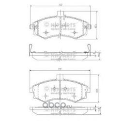 Комплект тормозных колодок, дисковый тормоз (Nipparts) J3600535