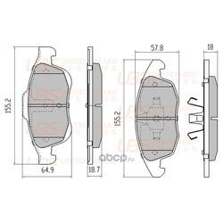 Комплект тормозных колодок, дисковый тормоз (UBS) B1107125