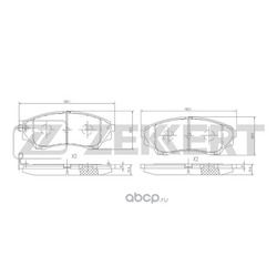Колодки торм. диск. перед Ford Ranger I II 99- Mazda B-Serie III IV 98- BT-50 (UN) 06- (Zekkert) BS1225