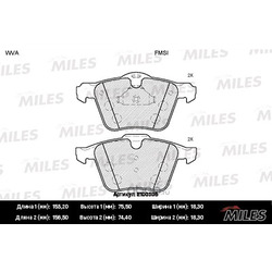 Колодки тормозные FORD S-MAX 2.0D-2.2D/VOLVO S60/S80/V70/XC70 06- передние (Miles) E100305