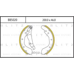 Колодки торм. барабанные (Blitz) BB5020