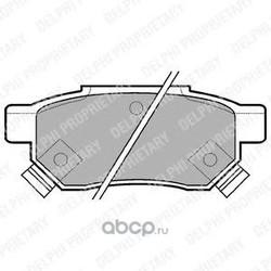 Колодки тормозные дисковые, комплект (Delphi) LP625