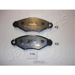 Комплект тормозных колодок, дисковый тормоз (Japanparts) PA114AF